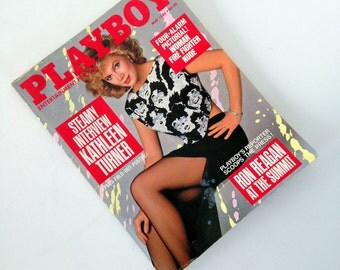 Vintage Playboy Magazine, May 1986, Kathleen Turner Interview, Christine Richters Centerfold - Adult Magazine