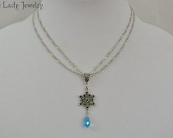 Frozen Snow Queen Necklace - fairy tale, fantasy, winter