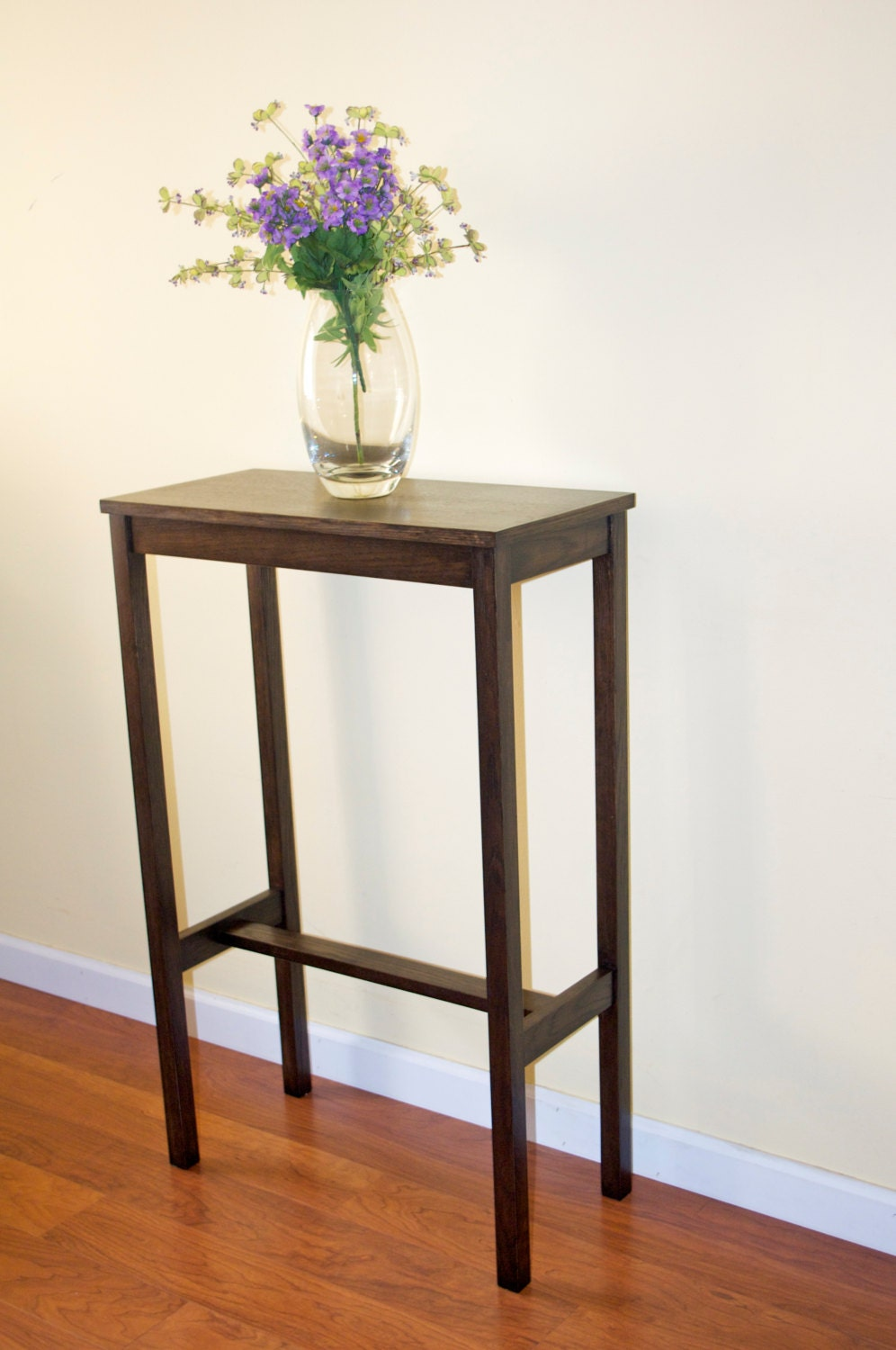 Tall narrow wooden console table for Tall console table