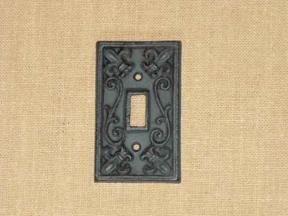 Items Similar To Blue Cast Iron Single Light Switch Cover