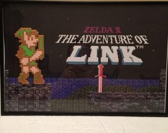 Link - The Adventure of Link Title Perler