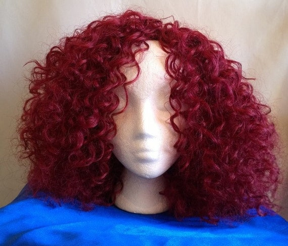 Crochet Red Hairstyles : Curls, red hair, hair, Crochet, wig, Elasticated, extensions, hair ...