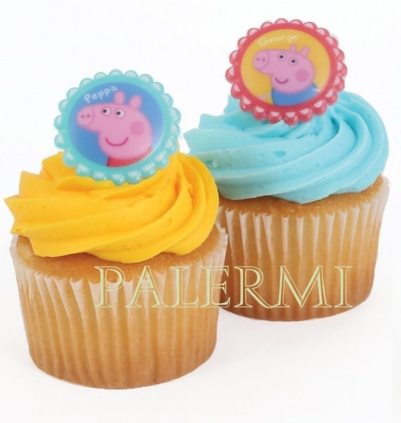 Peppa Pig Cupcake Ring Toppers