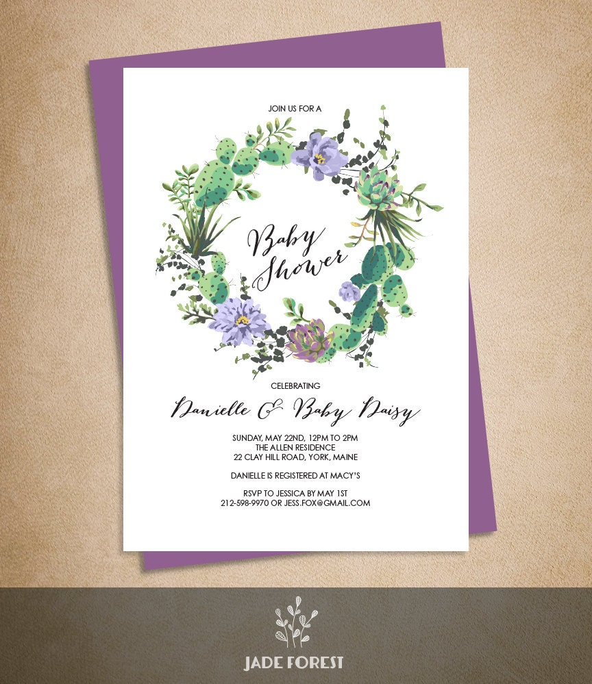 Book Cover Design With Flowers ~ Floral baby shower invitation diy purple flowers and