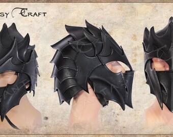 Leather helmet Dark Elf