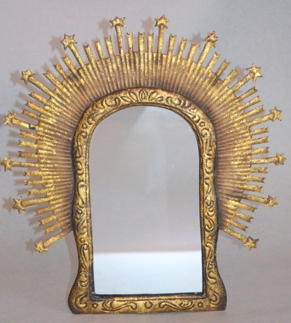 Mirrored Star Wall Decor: Gold Tin Star Boho Mirror...wall Decor