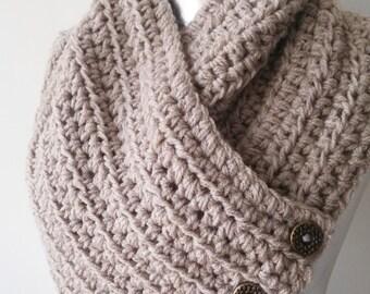 Scarf, Infinity Scarf, Knit Scarf, Winter Scarf, Knit Button Scarf Cowl, cowl scarf, infinity scarf, women scarf, infinity scarf shawl