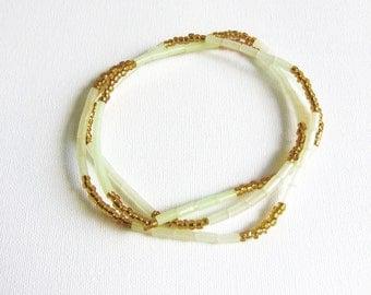 AMBRA - Single strand Fluorescent Waist Beads