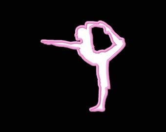Yoga Pose Machine Applique Embroidery Design Fits Hoops 5x7 6x10 8x12 Instant Download