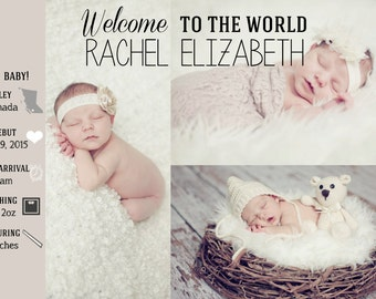 A Baby Must:  Birth Announcement
