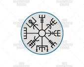 Vegvisir Dark Mysterious Viking Compass Norse Talisman Machine Embroidery Pattern Design