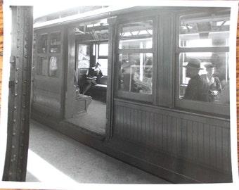Vintage Subway Photograph 1940s Brooklyn
