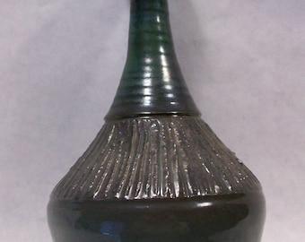 Earthenware Metallic Dark Green Vase