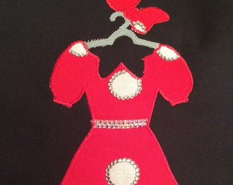Disney Minnie Dress Applique Pattern - Inspired by Minnie Mouse Herself!