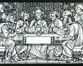"The Last Supper in the Cenacle or ""Upper Room"""