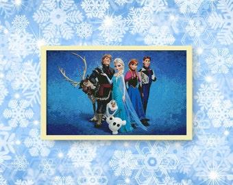 BUY 2, GET 1 FREE! Disney cross stitch pattern, Frozen, Elsa, Anna, Olaf, Sven, Kristoff, Frozen, Instant Download, #P071