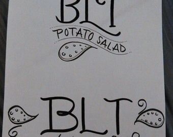 CUSTOM Cookbook Titles- Salads