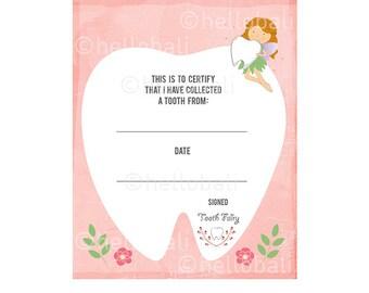 Tooth Fairy Certificate Clip art! Scrapbook Illustration, ClipArt, Letter Keepsake, Floss, Tooth, Flower, Laurel, Floral [Instant Download]