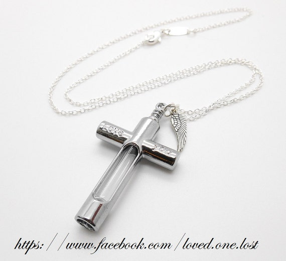 Crucifix Necklace Womens: Cremation Jewellery Womens Necklace Crucifix Urn For Loved