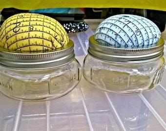 Pincusion Handy Mason Jar