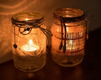 In glass jars