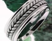 14K White Gold Wedding Band,Wedding Ring,Mens Wedding Ring,Womens Wedding Ring,Engagement Ring,Men Wedding Band,Women Wedding Band