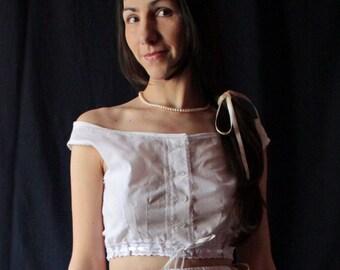 White Batist Camisole XIX Century Corset Cover