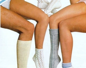 Sock Knitting Pattern PDF Family Socks