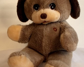 Tattle Talk Friends Tippy the Puppy Tan Plush Toy for Parts / Repair 1985