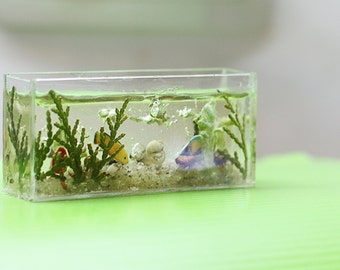 Miniature, Dollhouse Miniature, miniature furniture, miniature aquarium 1/12