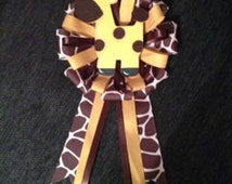 "Giraffe ""Mommy-to- Be"" Shower Pin/ Corsage/ Keepsake"