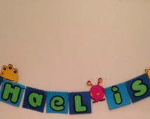 Little Monster Birthday Banner, Kids Party, Highchair Banner