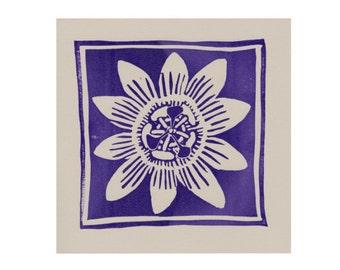 Purple Passion Flower card