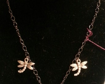 OOAK Gothic Dragon Fly Necklace