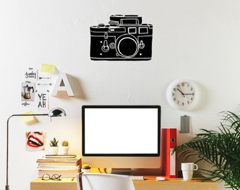 "Camera Wall Decal / Photography Wall Sticker (20"" x 14.8"")"