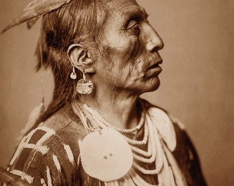 Edward Curtis Photo - Medicine Crow, 1908, Apsaroke Warrior