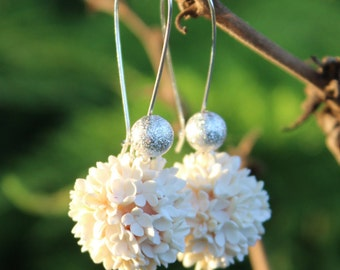 White Jewelry FREE SHIPPING Dangle Earrings Drop Earrings Bridesmaid Gift Bridal Gift Set Wedding Bridal Jewelry Mothers Day