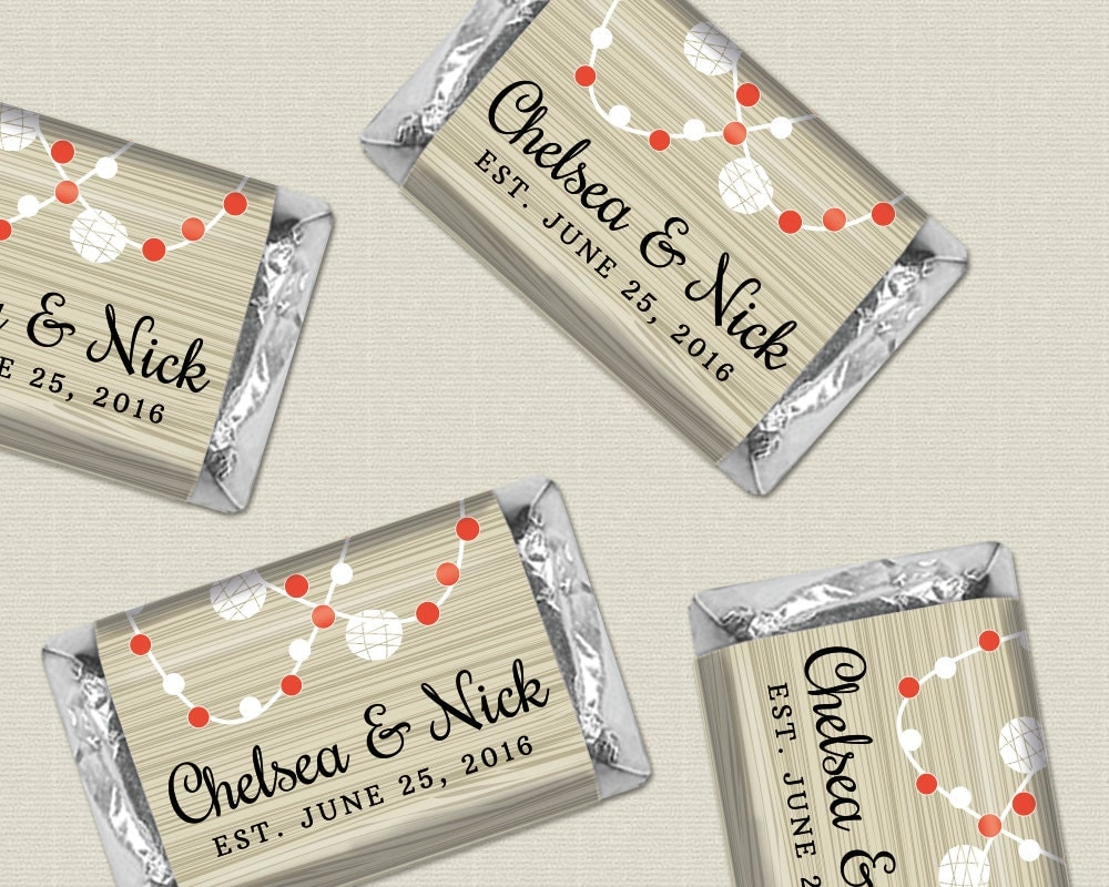 Rustic Wedding Favors Personalized Candy Wrappers For By WHCandy