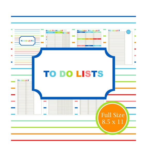 DO KIT, printable, to do list, planner, organizer, student, mom, daily ...