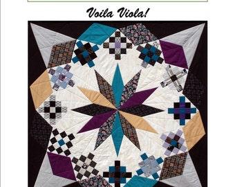 Voila Viola! patchwork quilt pattern
