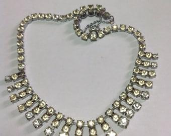 Vintage Art Deco  Paste Diamanté necklace. Prom, Wedding, Party.