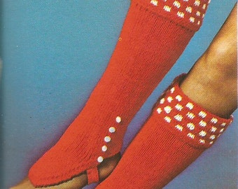 Vintage Knee Length LegWarmers Knitting Pattern