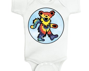Grateful Dead Baby esie by Blissfulbabystudios on Etsy