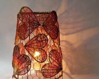 Lamp magic pattern heart