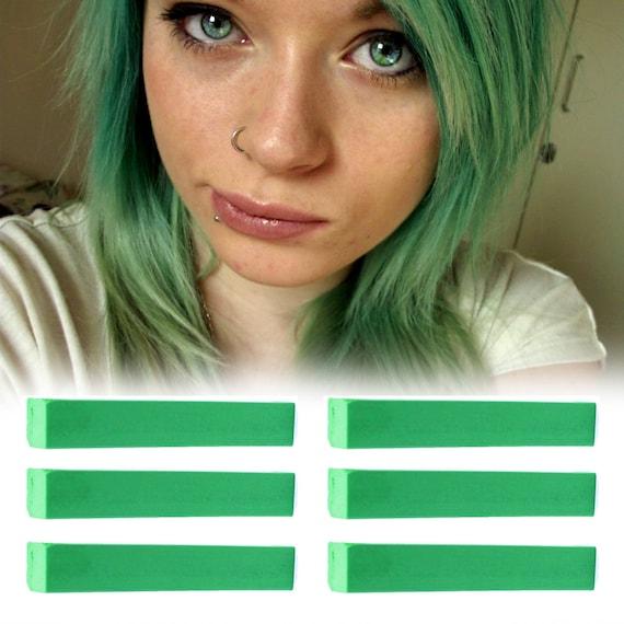 how to make temporary green hair dye