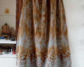 vintage long skirt tie & dye flowers free size M/L