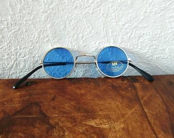 Vintage Round Blue MINI Sunnies // No.24