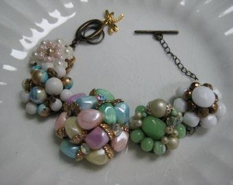 Vintage Earring Bracelet (5) Repurposed, Vintage Earrings, Wedding, Bridesmaid, Bride