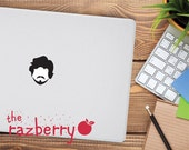 Bearded Handsome Man MacBook Vinyl Sticker Decal Macbook Decal Vinyl Sticker Cover Macbook Pro Sticker Cover Hipster Beard Laptop Sticker
