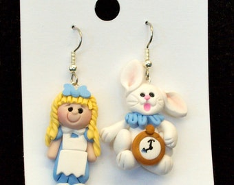 Alice and the Rabbit Earrings